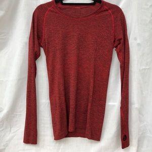Long sleeve lululemon running shirt